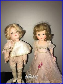 14 Set Of Two Prince Charming and Cinderella Effanbee Dolls 1950s