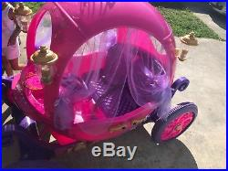 24V Disney Princess Carriage Ride-On Pink Cinderella Prince Charming