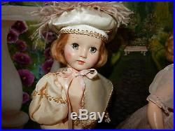 ADORABLE 14 Early Hard Plastic Pair of Effanbee Cinderella and Prince Charming