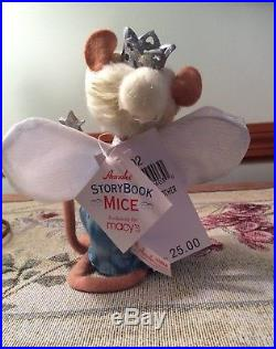 Annalee Storybook-Mice-Dolls-Cinderella Prince-Charming SET of 5 Rare Carriage