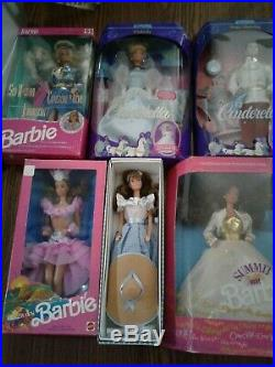 Barbie Doll Lot (PK 4) Cinderella, Prince Charming, Sea Holiday, etc