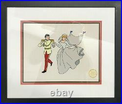 CINDERELLA AND PRINCE CHARMING Animation Cel $4K APR Value with CoA