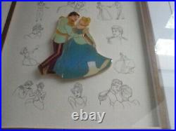 CINDERELLA/PRINCE CHARMING Framed Disney Pin Collection Limited Ed 570/75