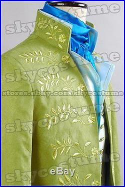 Cinderella 2015 Film Prince Charming Attire Outfit Suit Party Cosplay Costume