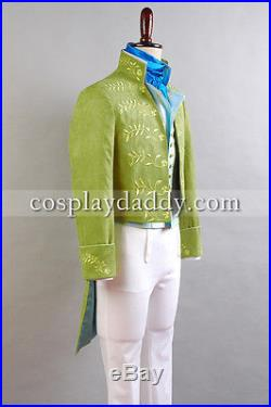 Cinderella 2015 Film Prince Charming Kit Long Sleeve Green Uniform Outfit Jacket
