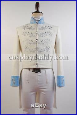 Cinderella 2015 Film Prince Charming Kit Long Sleeve Uniform Outfit Jacket Pants