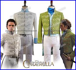 Cinderella 2015 the Movie Prince Charming Richard Madden COSplay Suit Costume