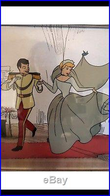 Cinderella And Prince Charming Serigraph The Wedding. 11x14
