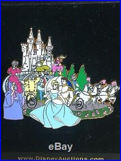 Cinderella Cast Prince Charming Fairy Godmother Jumbo Disney Auctions Pin LE 100