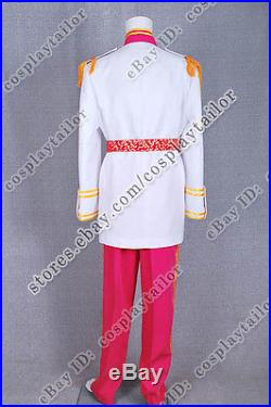 Cinderella Cosplay Prince Charming Costume Deluxe Uniform High Quality Full Set