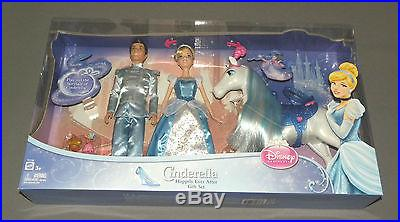 Cinderella Happily Ever After Doll Gift Set w Prince Charming, Royal Horse NEW