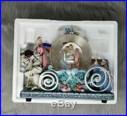 Cinderella Musical Snow Globe Carriage Disney 50th Anniversary Prince Charming