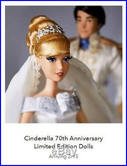 Cinderella & Prince Charming 70th Anniversary L/E Wedding Doll Set 1 Of Only 600