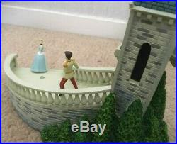 Cinderella Prince Charming Castle Steps Musical Wind Up Clock Wish/Dream