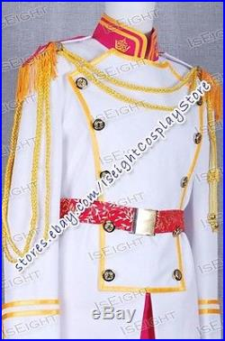 Cinderella Prince Charming Cosplay Costume Outfits Best Jacket+Pants+Belt