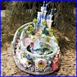 Cinderella & Prince Charming Dancing at Castle Musical Figurine So This is Love