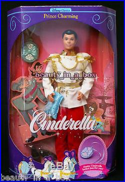 Cinderella Prince Charming Disney Doll Stepmother Godmother Mask Carriage Horse