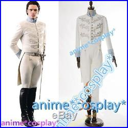 Cinderella Prince Charming Richard Madden COSplay Costume Tuxedo Outfit Attire A