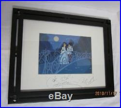 Cinderella & Prince Charming signed at Magic Kingdom This is LOVE ART AUTHENTIC