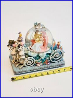 Cinderella and Prince Charming Large Musical Carriage Snow Globe