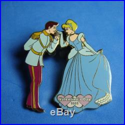 Cinderella and Prince Charming Valentine's Day Disney Auctions Pin LE 100 RARE