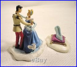 Cinderella and Prince Charming figurine with shoe