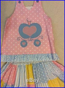 Custom Boutique Resell Disney Cinderella and Prince Charming Skirt Top 7 8 10
