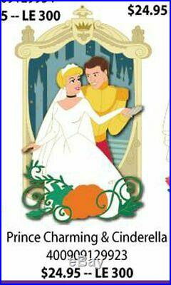 DSSH Disney Studio Store Hollywood LE Prince Charming & Cinderella Pin Married