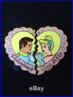 Disney Auctions Pin Cinderella Prince Charming Valentine's Day Set LE 100