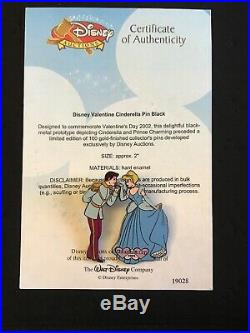Disney Auctions Pin Valentine Cinderella Prince Charming PROTOTYPE LE 4/LE 100