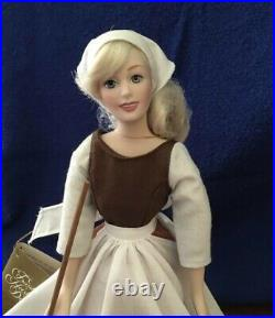 Disney CINDERELLA and PRINCE CHARMING 14-15 Porcelain Dolls From Franklin Mint