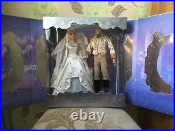 Disney Cinderella And Prince Charming Limited Edition Wedding Doll Set 70th