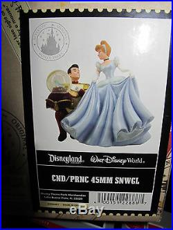 Disney Cinderella And Prince Charming Musical Wind -up Snowglobe