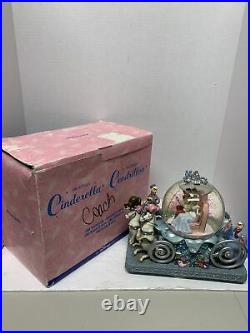 Disney Cinderella Musical Snowglobe Carriage Prince Charming so this is love