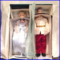 Disney Cinderella & Prince Charming Limited Edition Collectible Porcelain Dolls