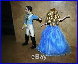 Disney Cinderella Prince Charming Live action Movie Doll Lily James Figure set