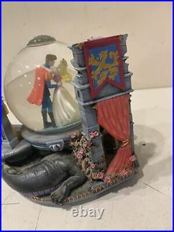 Disney Cinderella Prince Charming Musical Snowglobe Once Upon The Dream w light