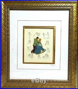 Disney Cinderella Princess Pin Framed Collection Limited Prince Charming Rare