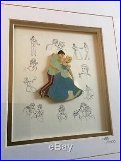 Disney Cinderella Princesses Pin Collection Limited Framed Prince Charming #ed