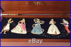 Disney Cinderella Wooden Pin Box Set Limited Edition of 3000 Prince Charming