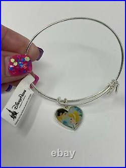 Disney Cinderella and Prince Charming Silver Heart Alex and Ani Bracelet