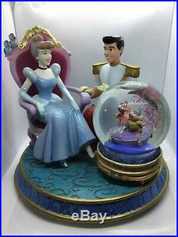 Disney Cinderella and Prince Charming musical snow globe with glass slipper