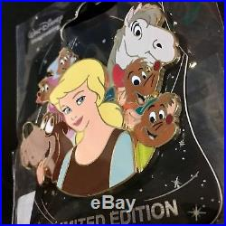 Disney D23 WDI Character Cluster LE 250 Pin Cinderella Prince Charming Jaq Gus
