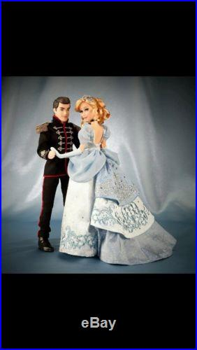 Disney Fairytale Designer Doll Couple CINDERELLA and PRINCE CHARMING IN HAND