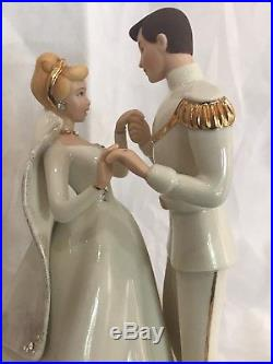 Disney Lenox Cinderella With Prince Charming Figurine, 24k Gold Accent Mint