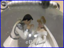 Disney Parks Exclusive Cinderella Prince Charming Silver Carriage Snow Globe