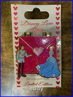 Disney Pin Cinderella and Prince Charming Love Letters Series LE 2016 NEW