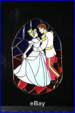 Disney Shopping Stained Glass Prince Charming & Princess Cinderella LE100 pin