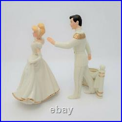 Disney Showcase Collection By Lenox Cinderella & Prince Charming With COA & Tins