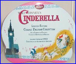 Disney Store Cinderella Figurine Set Limited Edition 1950 9 Piece Gift Boxed